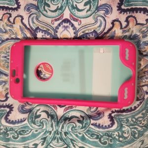 Accessories - Iphone 6 Teal & pink phone case